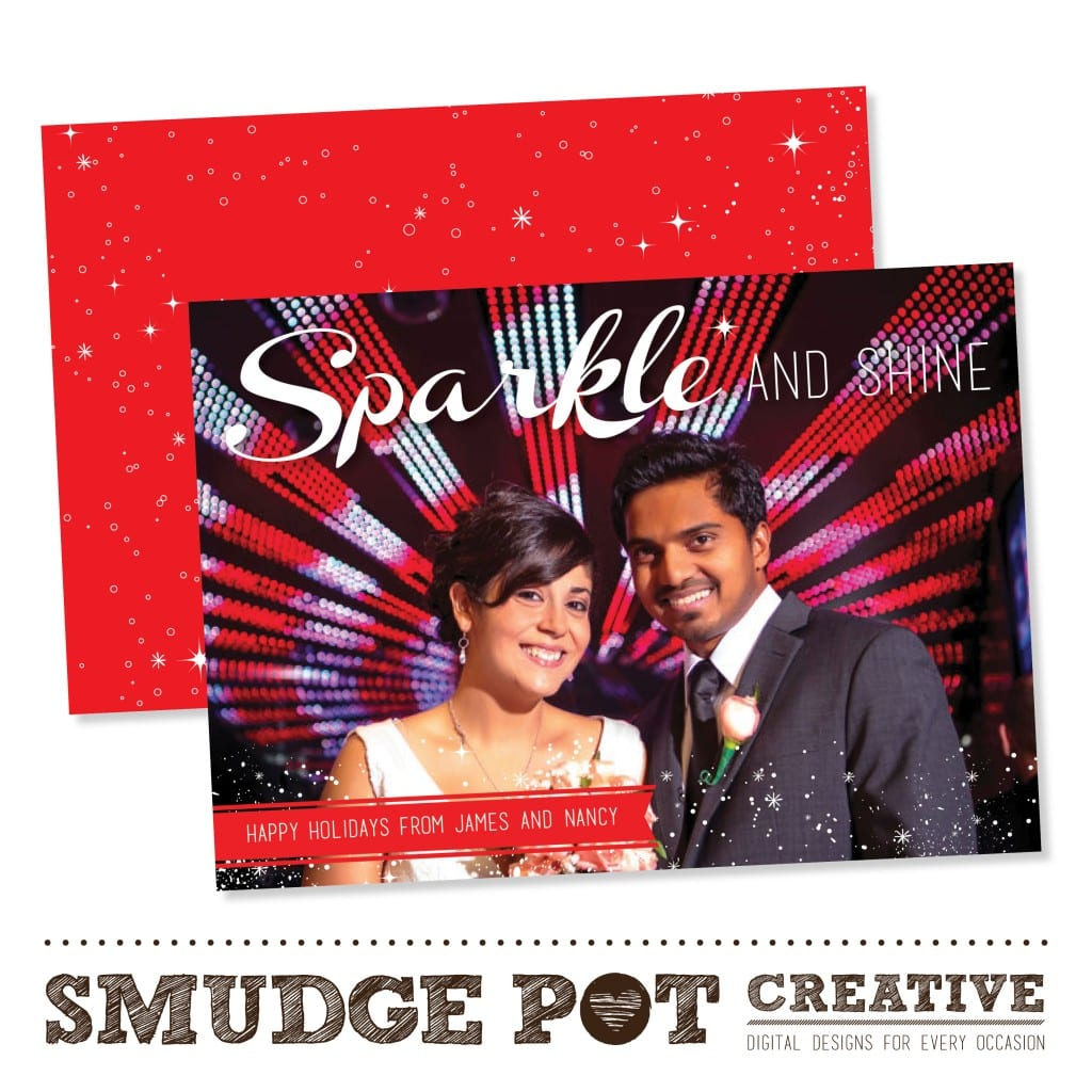 smudge pot creative | holiday card template | photography holiday cards