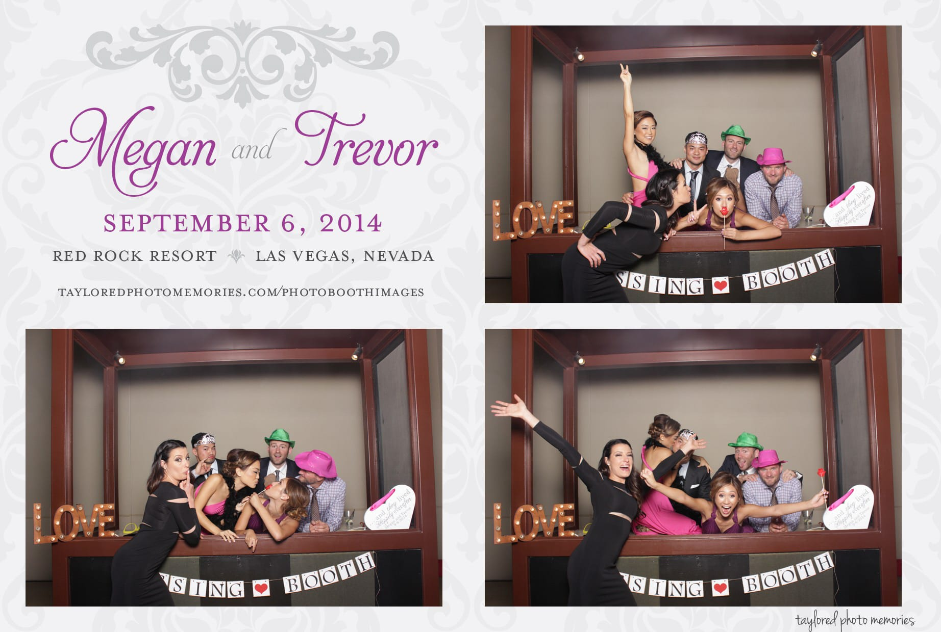 Las Vegas Wedding Photo Booth at Red Rock Casino