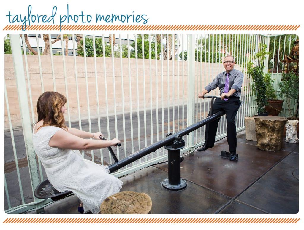 Teeter Totter Park on Fremont Pictures - Las Vegas Elopement