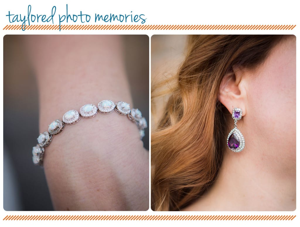 purple Bridal Jewelry Las Vegas Elopement