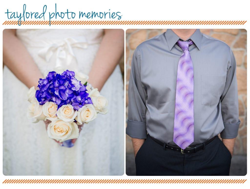 Purple wedding accents - Las Vegas Wedding