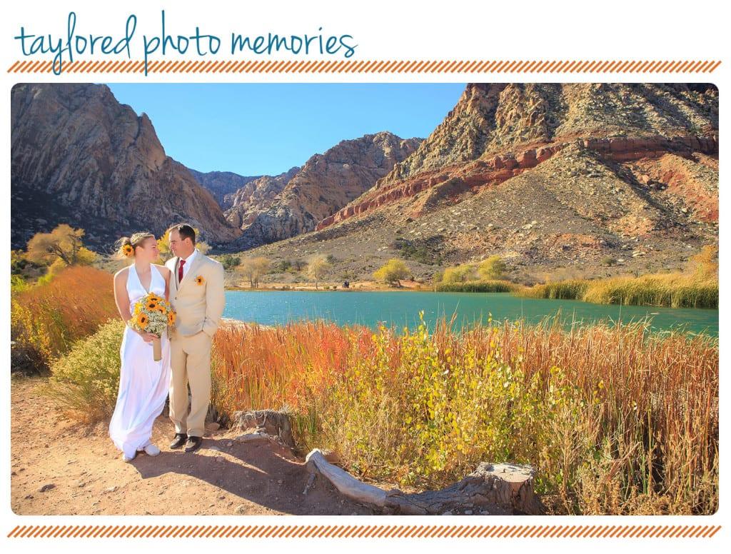 Lake Harriet at Spring Mountain Ranch State Park wedding