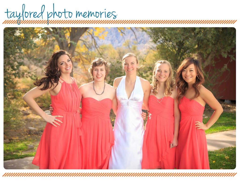 Bride and Bridesmaids at Spring Mountain Ranch   spring mountain ranch las vegas wedding