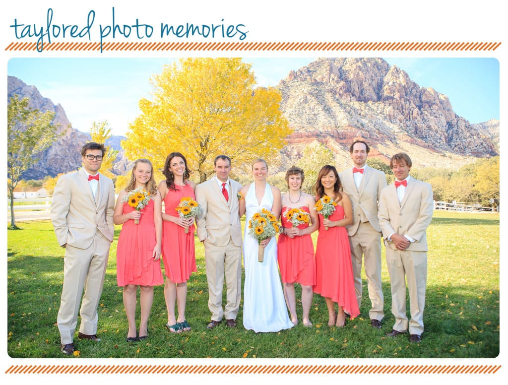 Wedding Party at Spring Mountain Ranch State Park   spring mountain ranch las vegas wedding