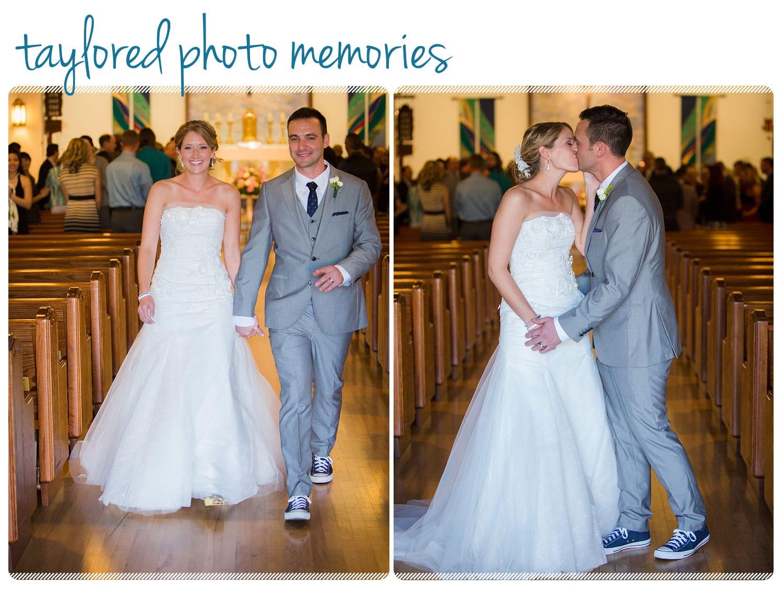Catholic Wedding Ceremony in San Diego. Photos at Balboa Park & Mission Bay. Reception at Handerly Hotel