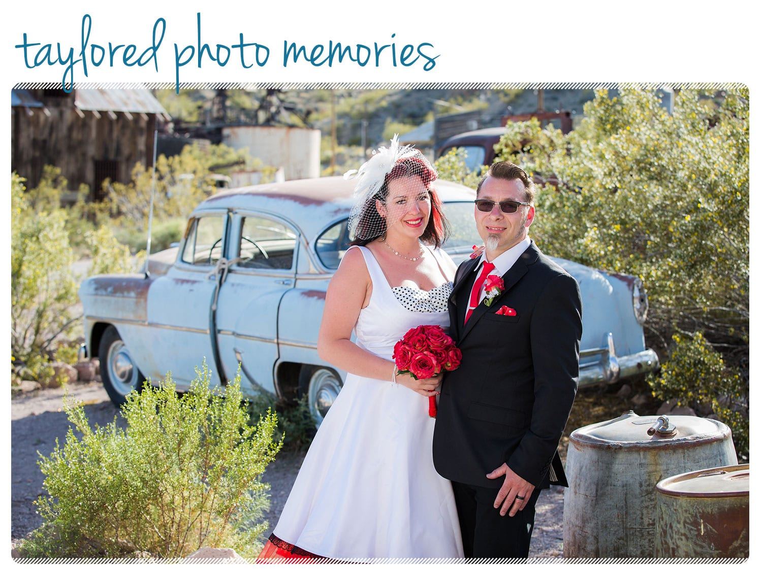 Rockabilly Wedding in Las Vegas at the Viva Las Vegas Rockabilly Weekend - Photo Shoot at Nelson's Landing, Eldorado Canyon