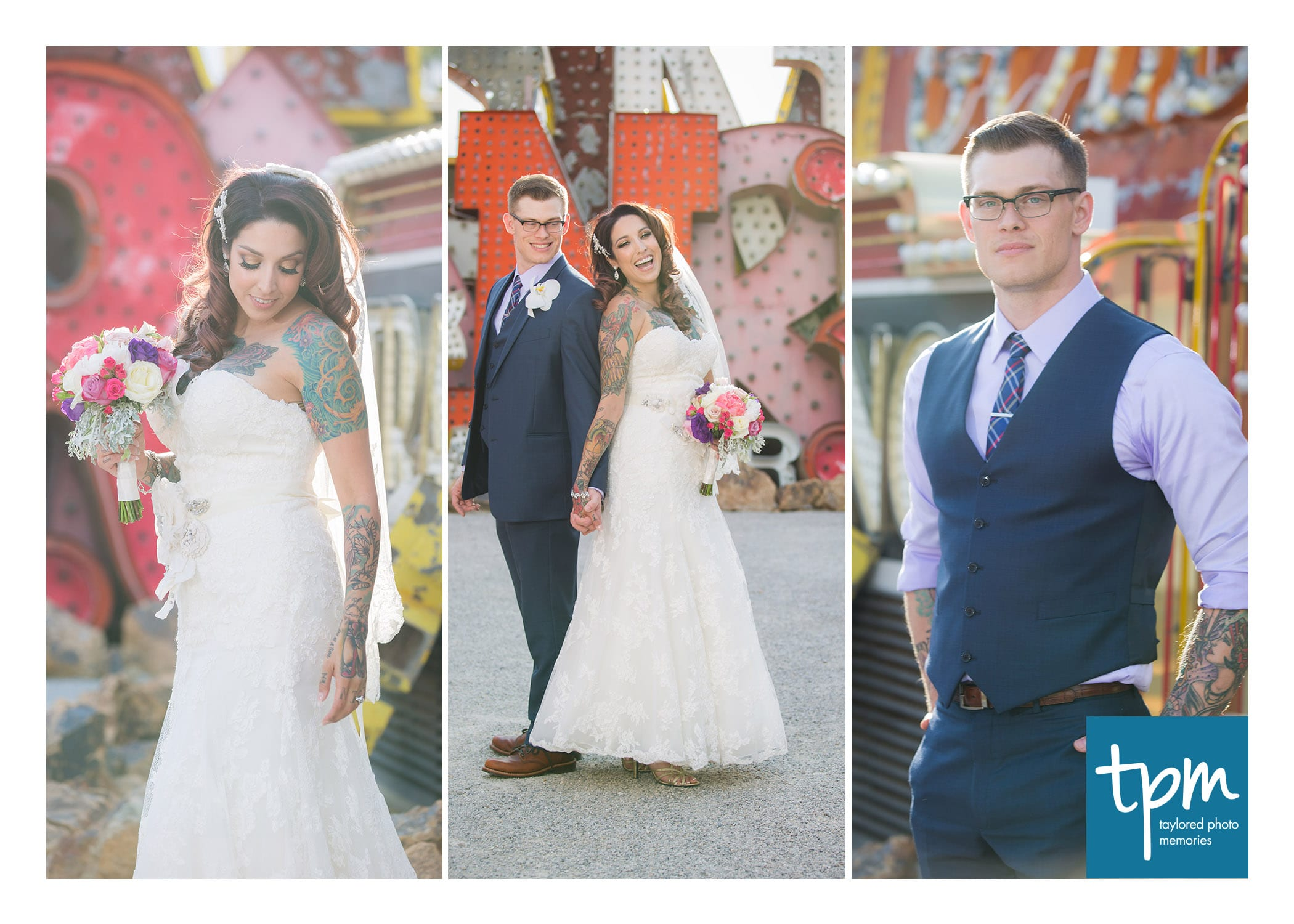 Wedding Photos at Neon Museum-1