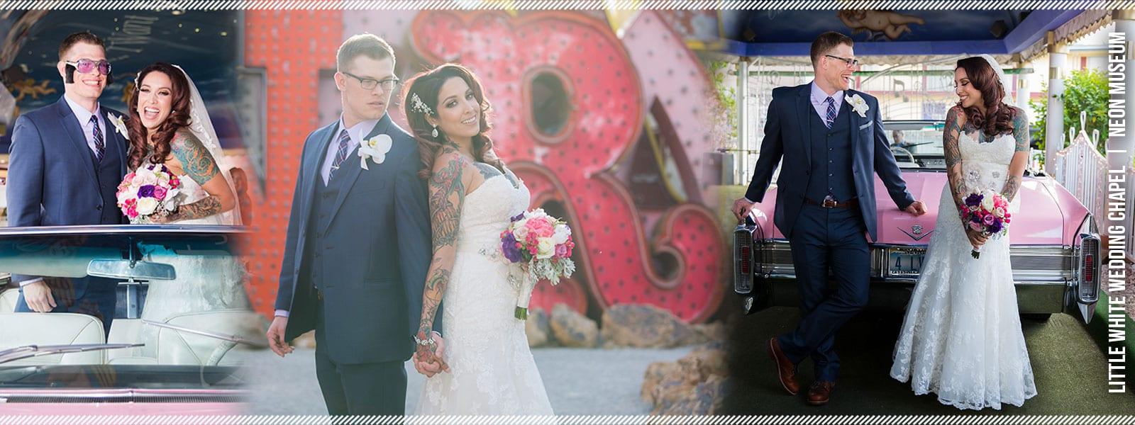 Little White Wedding Chapel + Neon Museum