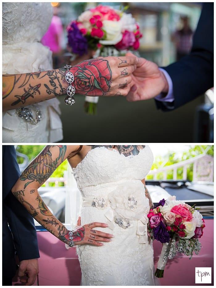 Tattooed couple weds at little white wedding chapel neon museum elvis wedding little white wedding chapel las vegas mightylinksfo