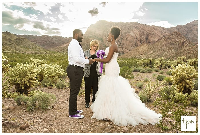 The best Las Vegas wedding venue is the one you choose. This couple opted for an elopement in the Las Vegas Desert.