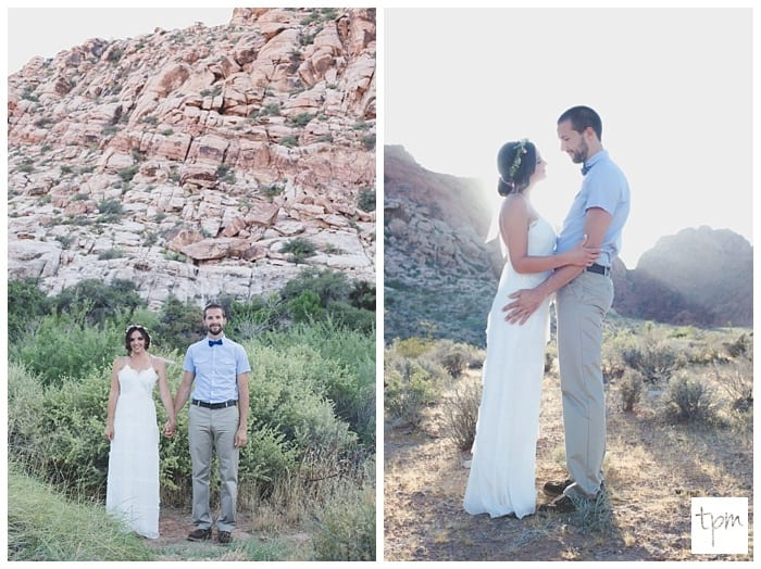 Cute Desert Wedding in Las Vegas