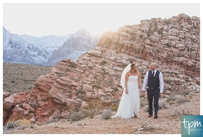 Red Rock Canyon Winter Wedding
