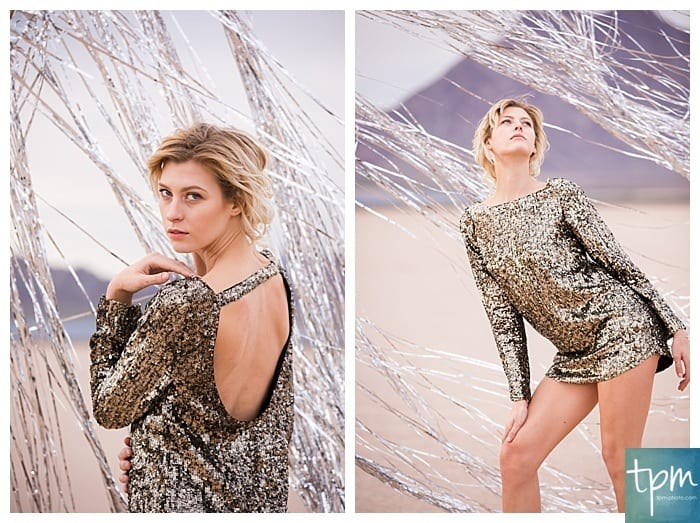 Metallic Styled Shoot at Las Vegas Dry Lake Bed