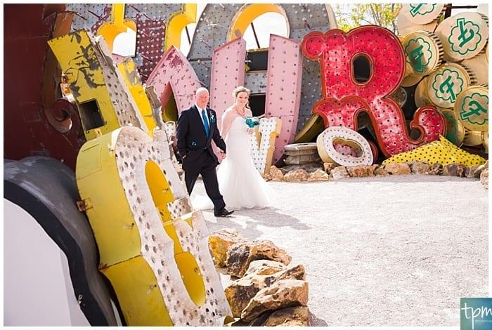 las vegas photographers, edgy wedding photographers, neon museum wedding