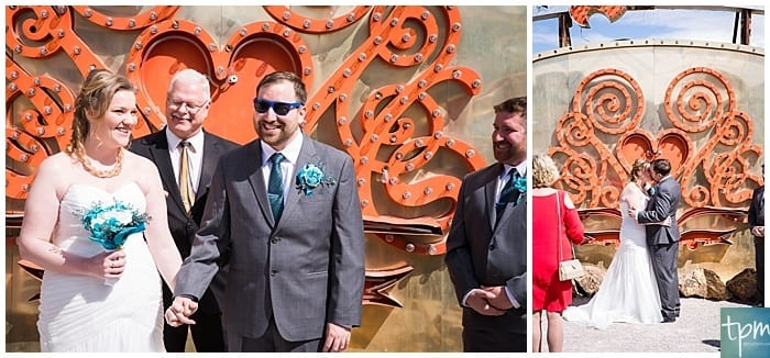 las vegas photographers, edgy wedding photographers, neon museum wedding