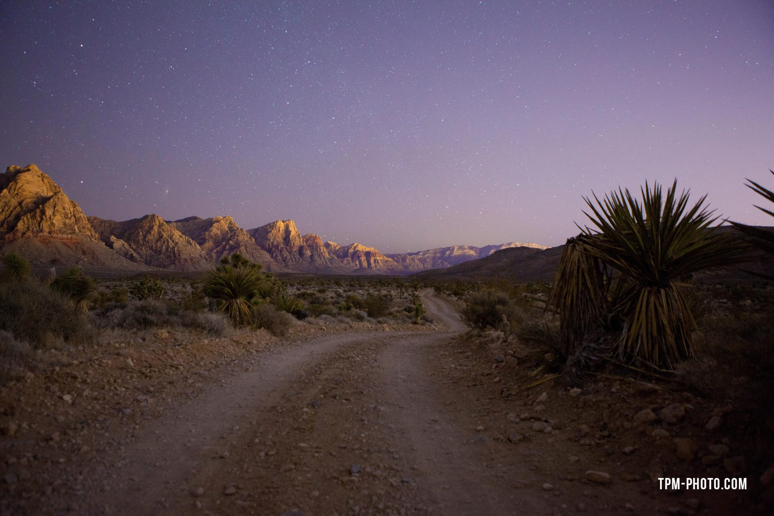 las vegas photographers, night in red rock canyon