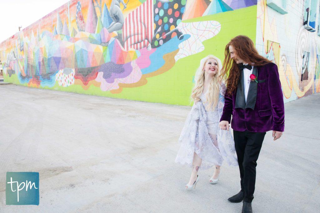Las Vegas Wedding Photographers, Downtown Las Vegas Murals