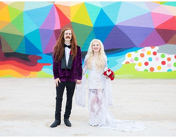 Neon Museum Wedding Photo Shoot